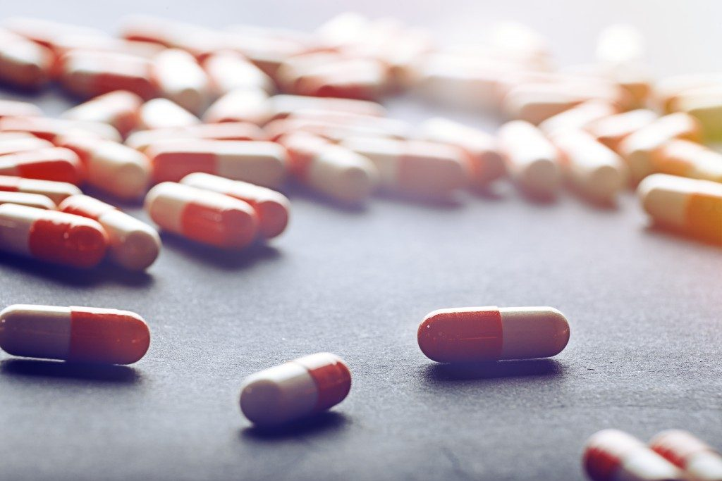 Tablets drug prescription concept