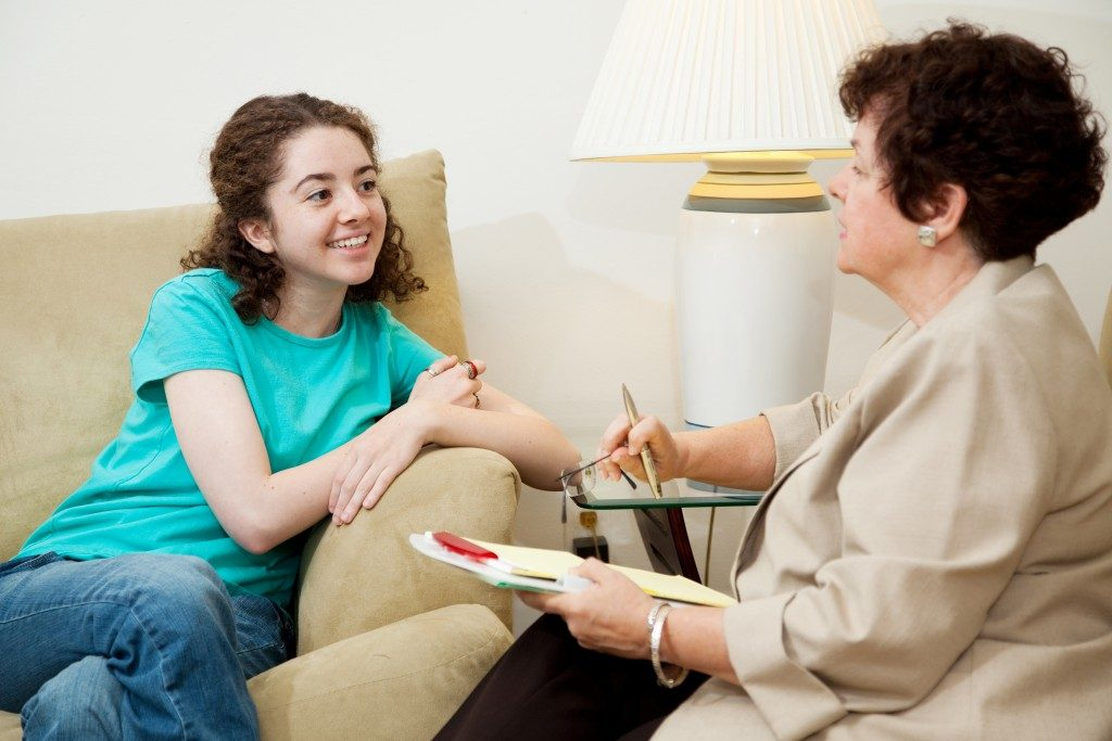 College Admission Consultant with a Teenage Girl