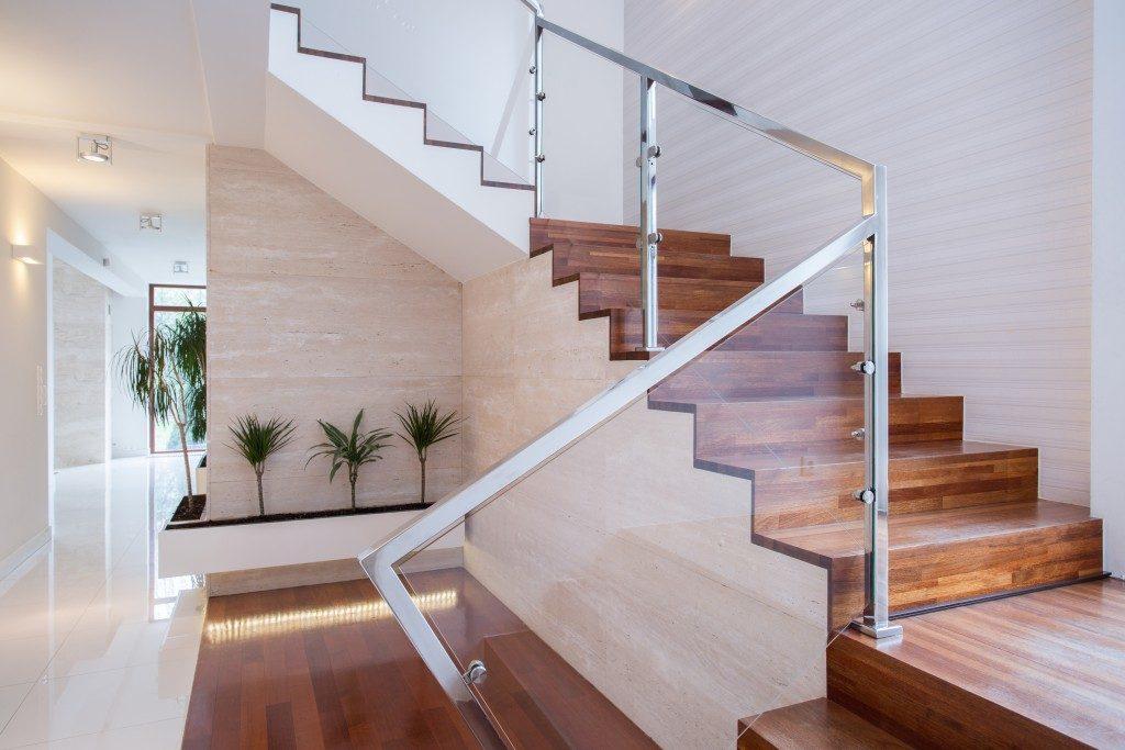 Modern stylish staircase