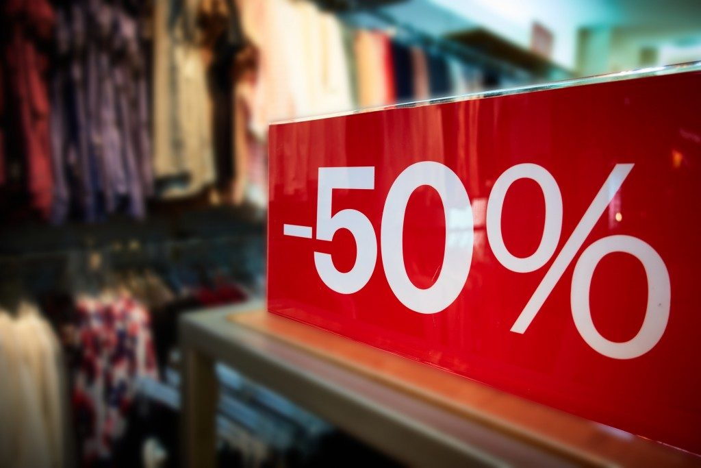 percentage discount sign