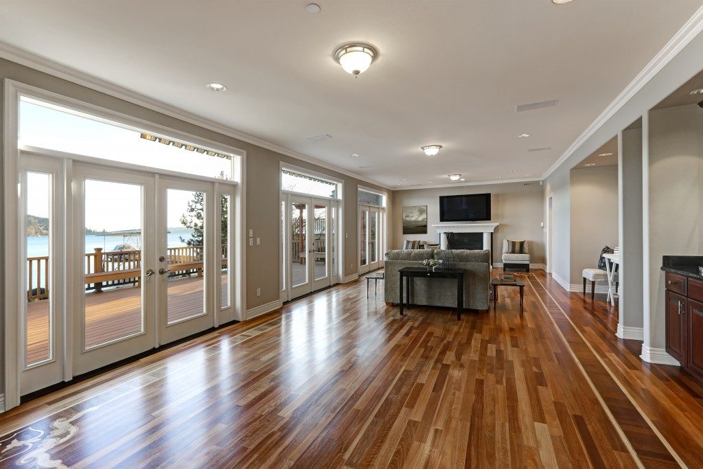 huge living room with egress windows