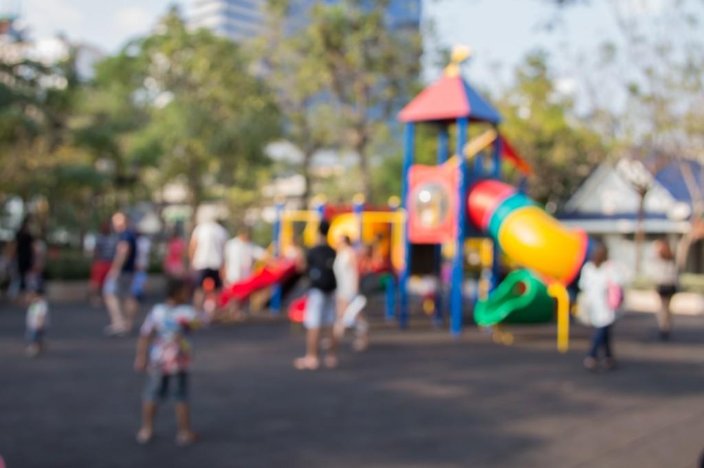 blurred photo of a children's playground