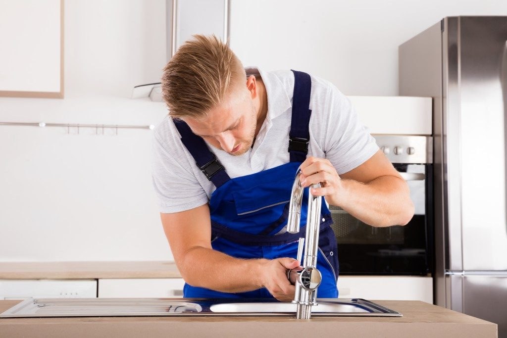 Fixing the kitchen faucet