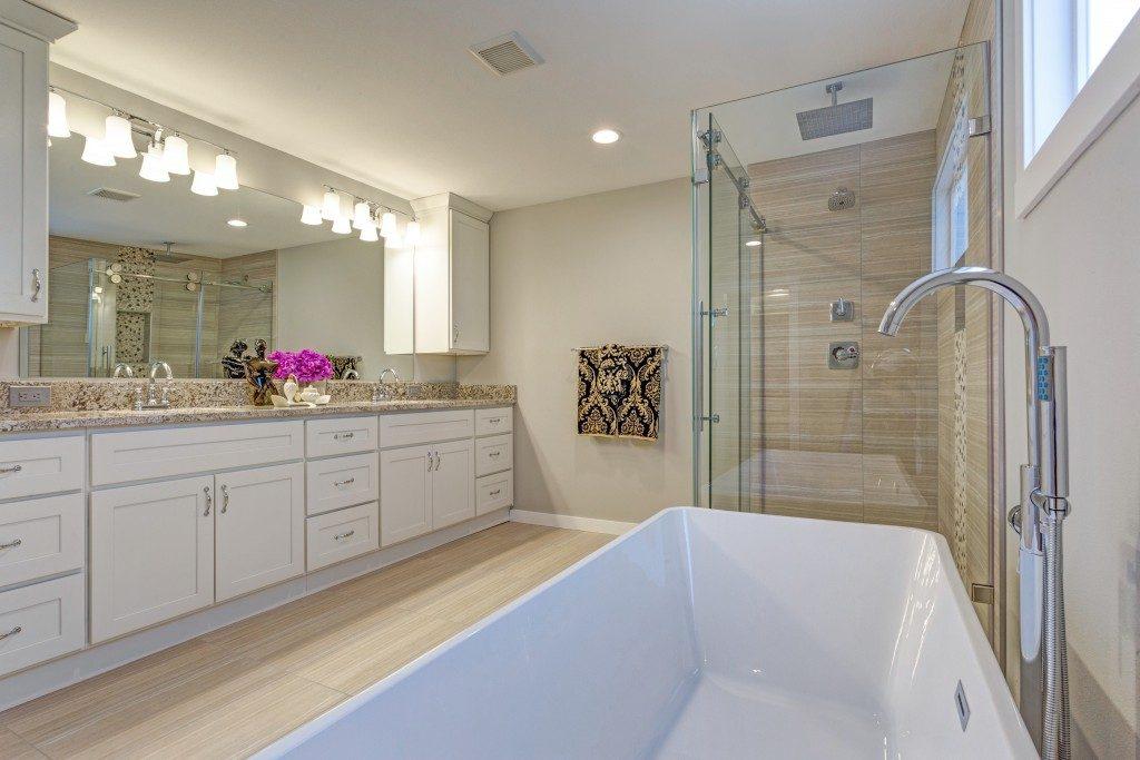 home bathroom in modern design