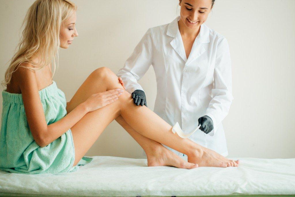 getting a wax treatment