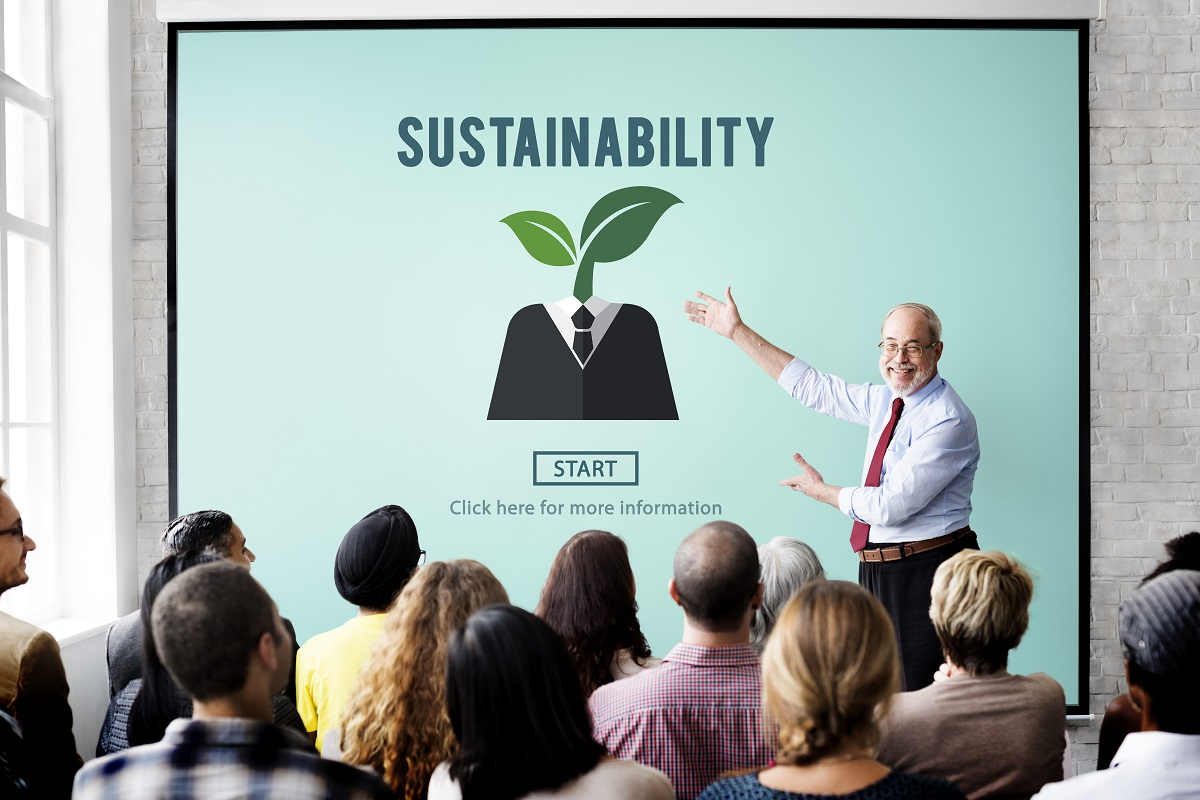 business meeting on sustainability