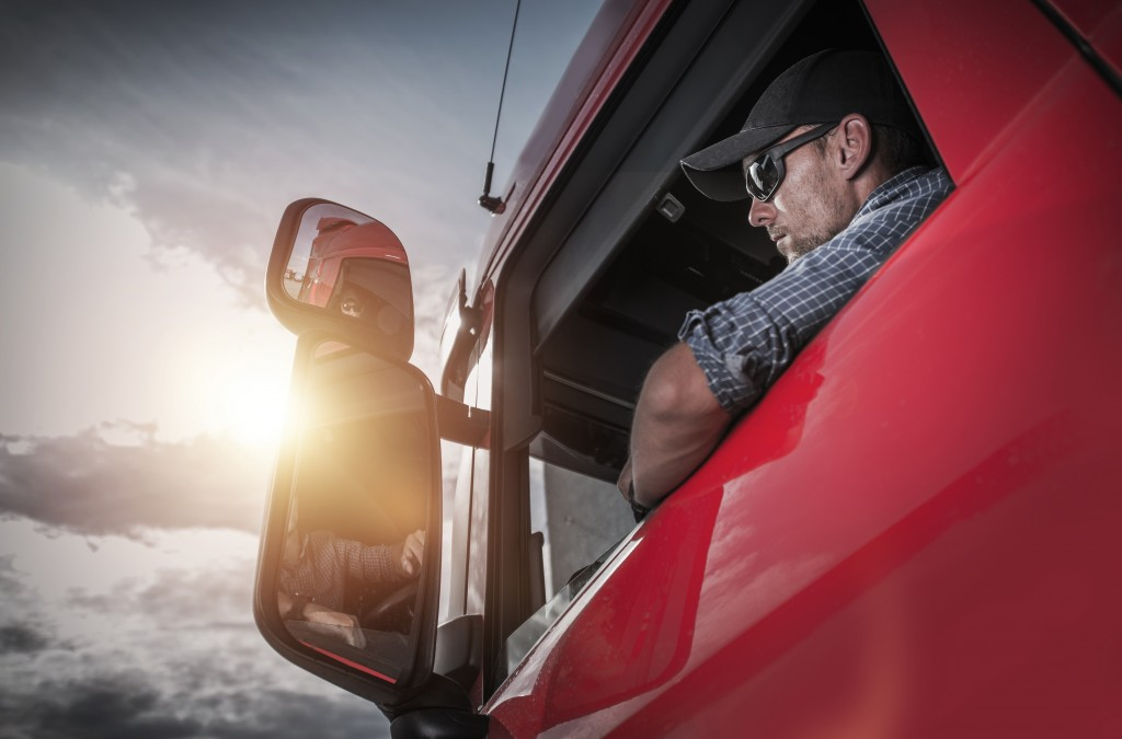 truck driver driving
