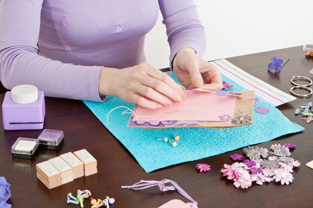 crafting a card