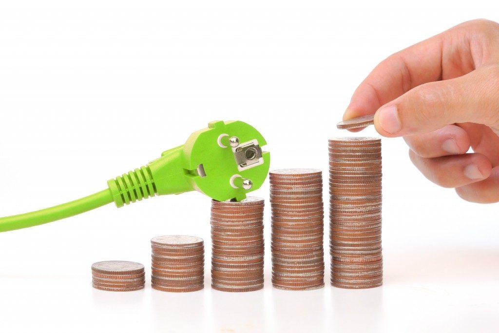 Saving energy concept