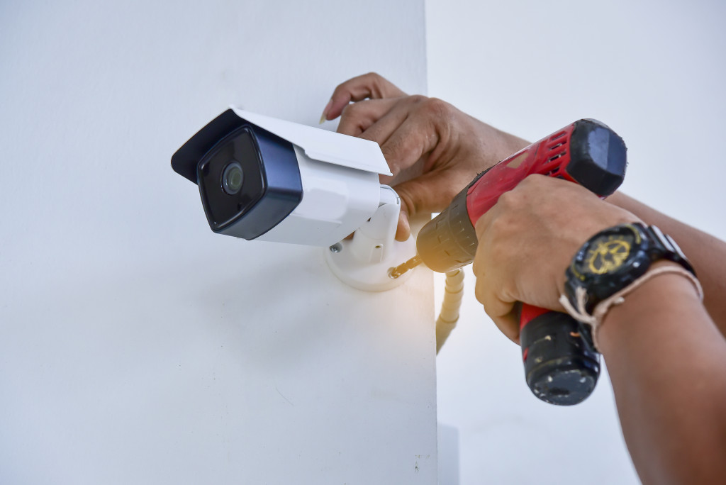 security cam installation