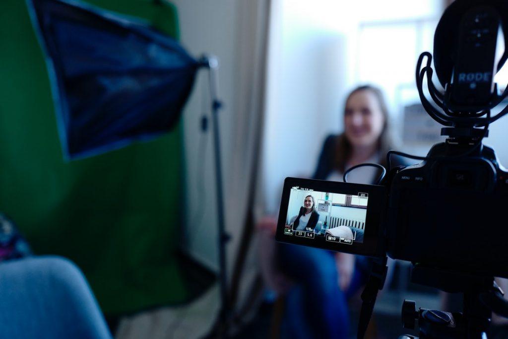 shooting a vlog
