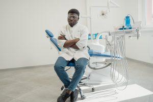 dentist sitting