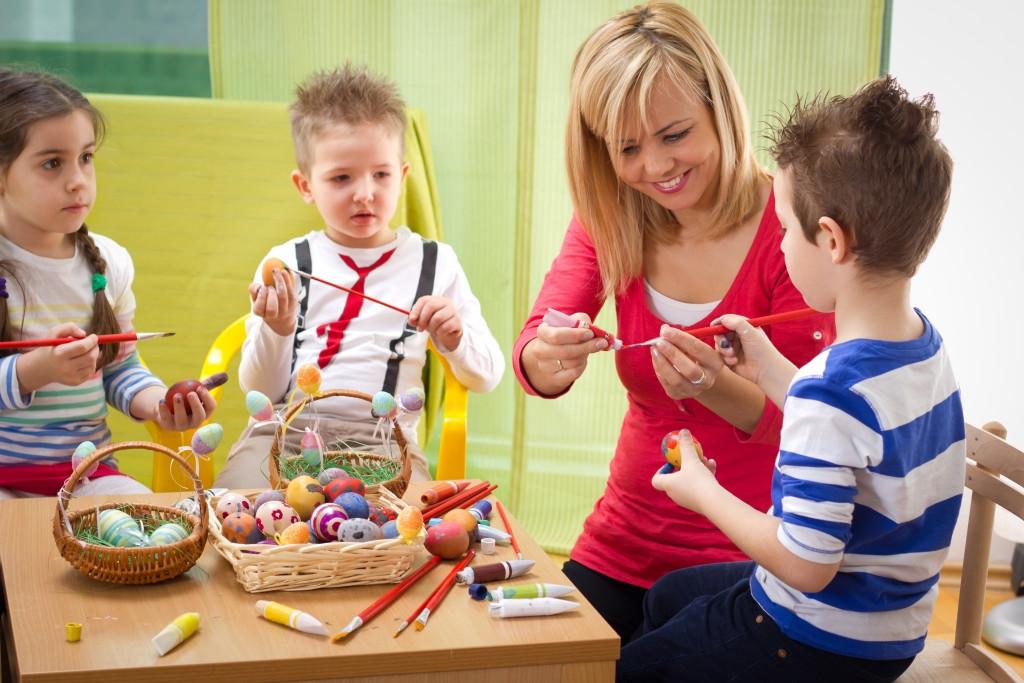 children doing arts